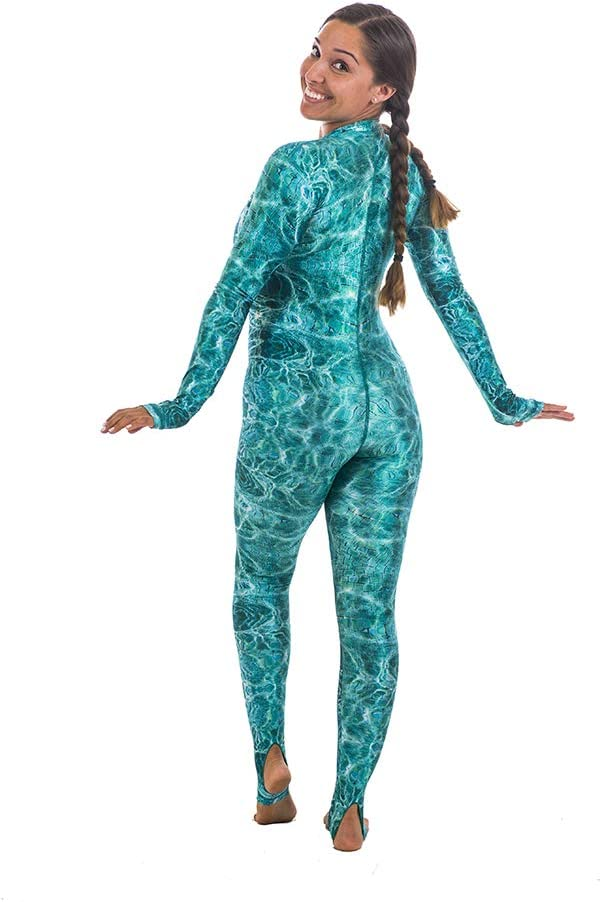 Slipins DiveSkins Zippered Full Body Diving Skin with Rash Guard Water Sports Snorkeling Swimming Diving UV Protection for Surfing
