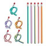 NUOLUX 20pcs Flexible Bendy Pencils with Eraser for Kids Children School Fun Equipment
