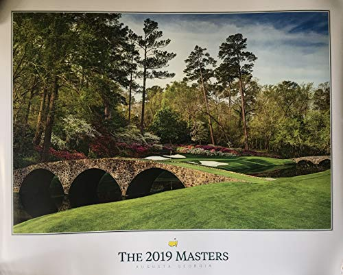2019 Masters golf Poster Tiger Woods augusta national tournament course image new pga by Inkster Sports