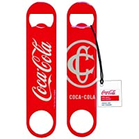Abrebotellas plano con logo clásico de Coca-Cola CC383 de Tablecraft, rojo