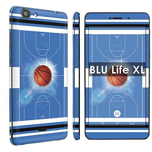 BLU Life XL [Phone Skin] - [SkinGuardz] Full Body Scratch Proof Vinyl Decal Sticker with [WallPaper] - [BasketBall Blue] for BLU Life XL