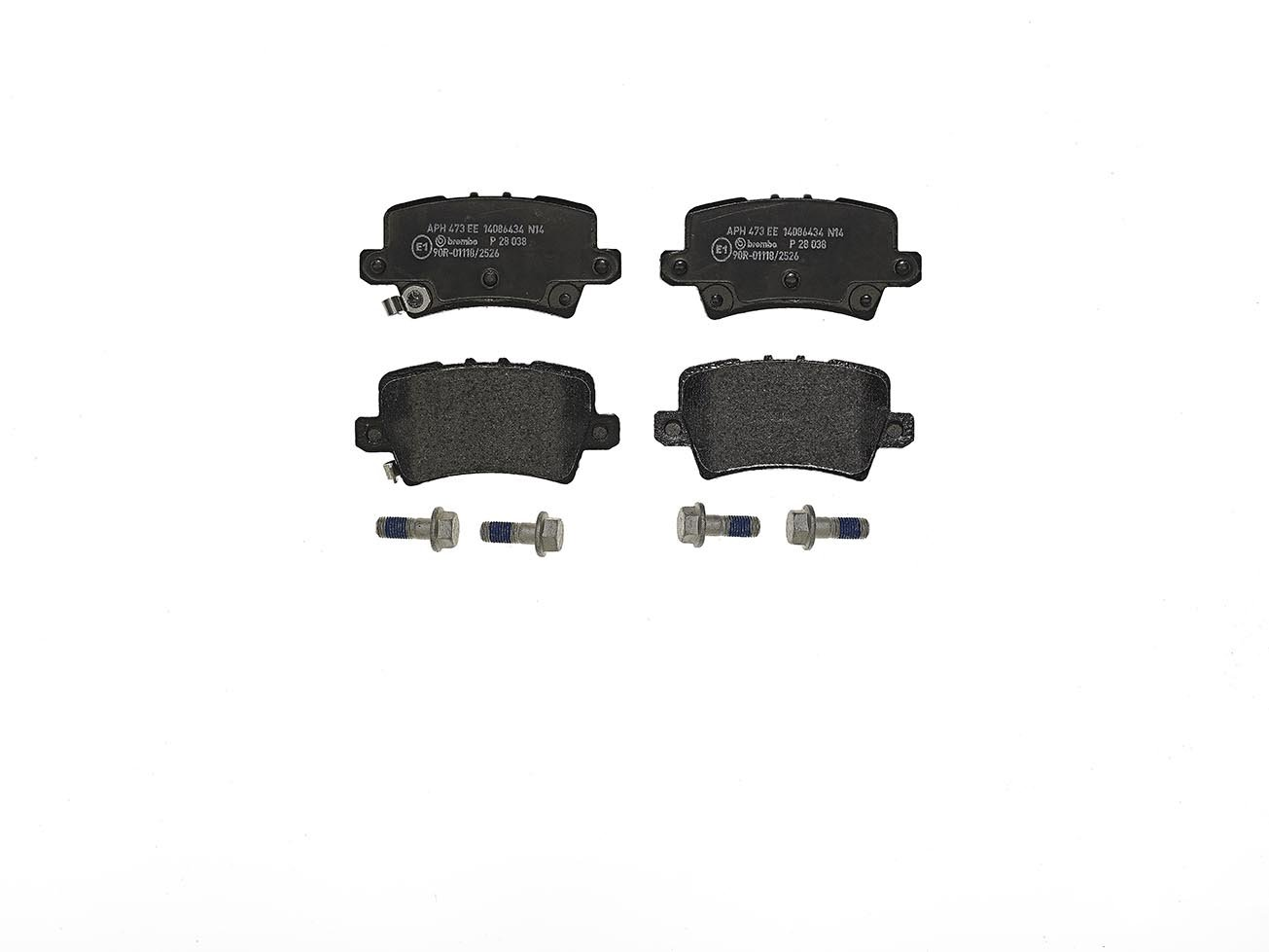 Brembo P28038 Rear Disc Brake Pad - Set of 4
