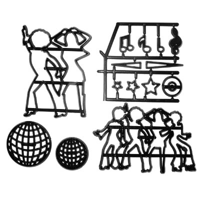 Disco Dancers (Silhouette) Cutter Set by Patchwork -