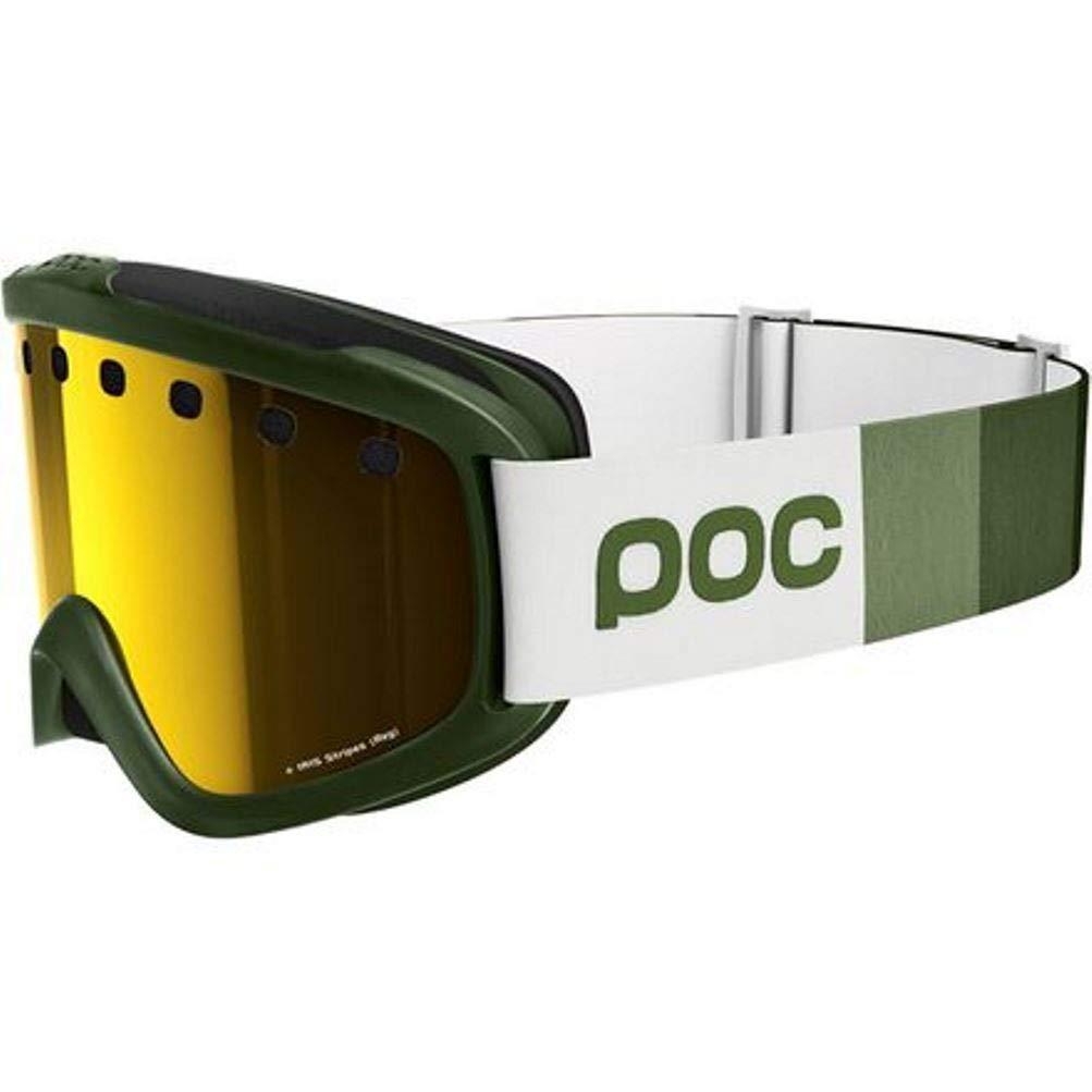 POC IRIS STRIPES ポック アイリス ストライプス ゴーグル Methane 緑/ピンク with ゴールド Mirror Lens VLT31% Regular [並行輸入品]