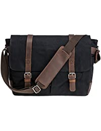 "<span class=""a-offscreen"">[Sponsored]</span>Waterproof Canvas 15.6"" Laptop Messenger Bag Men Business Vintage shoulder bag / Briefcase"