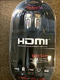Rocketfish - 12 feet HDMI-In-Wall Cable - Dark Gray