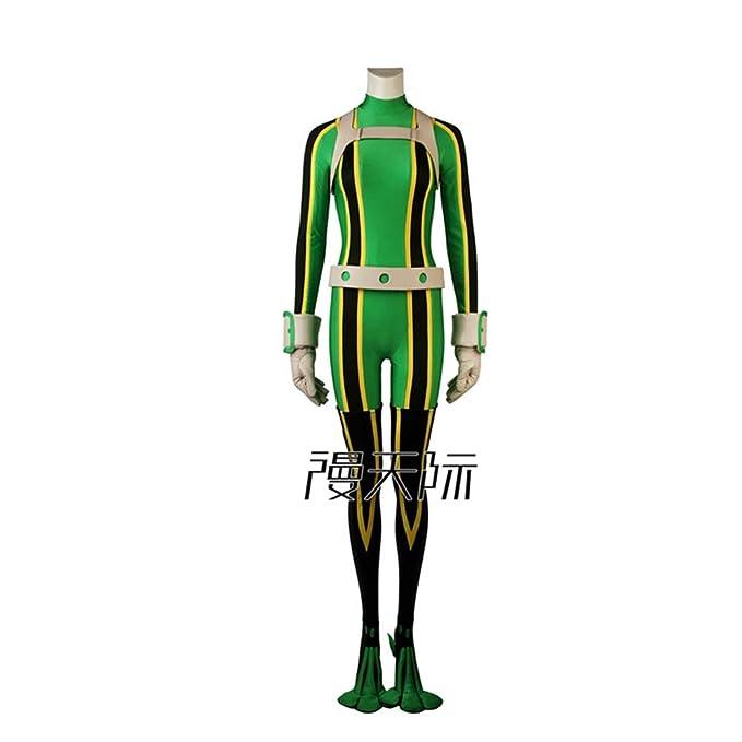Amazon Com My Hero Academia Cosplay Uniform Asui Tsuyu