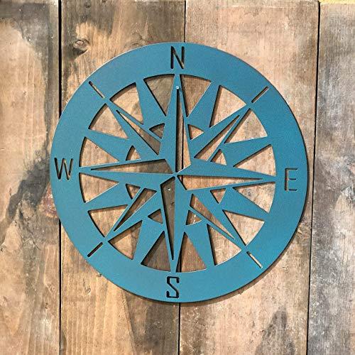 Nautical Compass - Metal Wall Art - Compass Rose V3