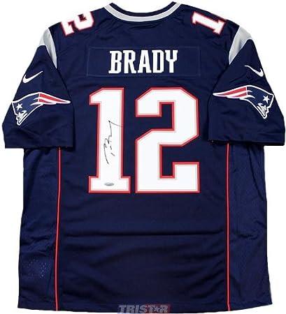 reputable site 0df1b 65efa Signed Tom Brady Jersey - Nike Twill - Tristar Productions ...