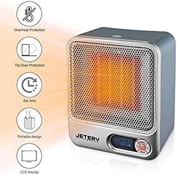 Jetery 1500W PTC Portable Electric Heater with Adjustable Thermostat