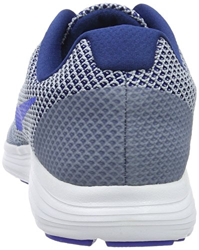 Nike Revolution 3, Zapatillas de Gimnasia para Hombre Azul (Cool Blue / Hyper Cobalt-Coastal Blue)