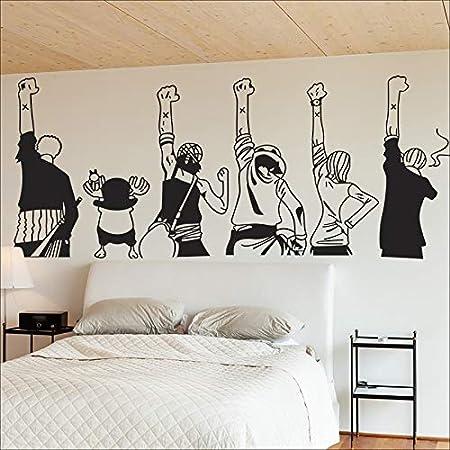 Haotong11 Bricolage Vinyle One Piece Salon Parure Chambre Dessin Anime Stickers Muraux Mur Interieur Autocollant Sticker Mural 150cm W Amazon Fr Cuisine Maison