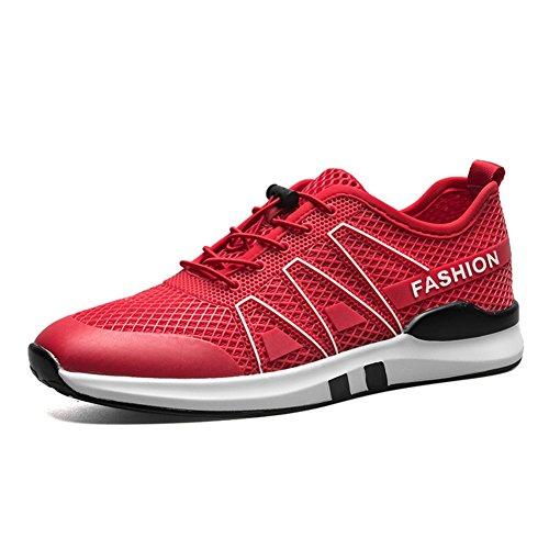 Automne Mode Fond Alpinisme Casual Air Sport Mou Glisser Sur Blanc De Plein Rouge Chaussures Baskets Dress qCwdXdU