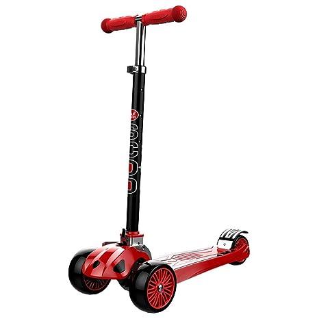 HYE-Patinete Scooter para niños Deluxe 4 Altura Ajustable 3 ...