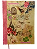 Filles Vintage Cage De Oiseaux Shabby Chic Style A4 Hard Cover Notebook Gift School