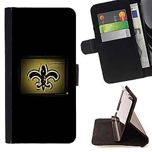 KingStore / Leather Etui en cuir / Sony Xperia M2 / Nueva Orleans San