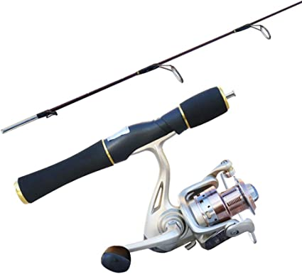 Amazon Com Zyu Telescopic Fishing Rod And Reel Combos Mini Fishing Rod Short Section Straight Shank Ice Fishing Rod Suit Solid Pole Sea Rod Sports Outdoors