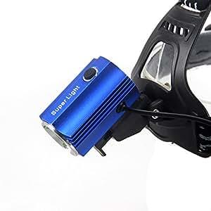 Generic azul recargable 2500 lm estarer XM-T6 LED Linterna antorcha lámpara de cabeza vietor en línea 2 x 18650 Rechargeble USB + baterías + cargador