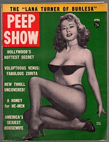 Peep Show 4/1956-Charlton-Rene Andre-Tempest Storm-Diane Weber-VG