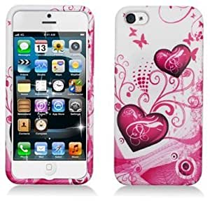Topratesell Flower Skin Soft Silicone Case Cover for Iphone 5 5s (No.24)