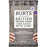Burts Hand Cooked Salt and Peppercorn Potato Chips, 150 g