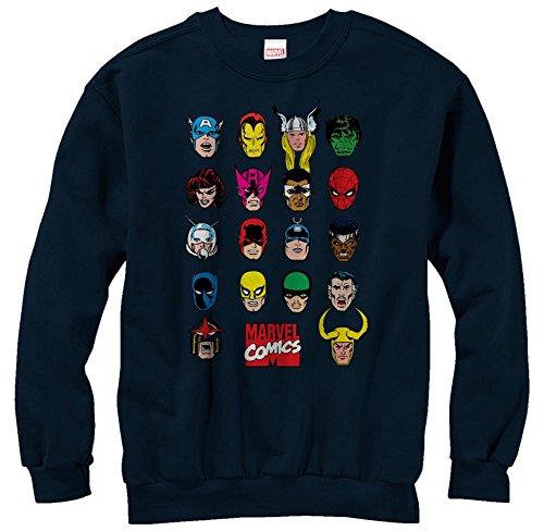 Crewneck Sweatshirt: Marvel- Cast Of Characters Rundhals-Sweatshirt - Blau