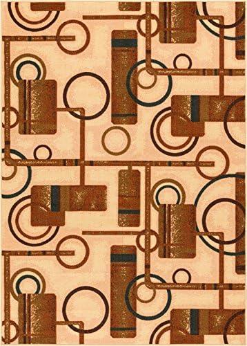 Well Woven Kings Court Prescott Modern Natural Abstract Geometric 7 10 x 9 10 Indoor Outdoor Area Rug