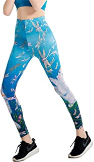 Wagsiyi Leggings di Fitness Pantaloni da Yoga Traspiranti Elasticizzati da Donna Pantaloni da Fitness da Donna a Vita Alta Leggings da Ginnastica Belli per Donna Pantaloni da Compressione da Donna