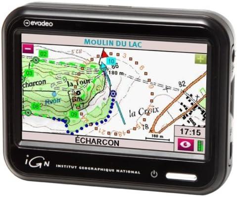 IGN GPS Ruta y Promenade Evadeo Primo Tarjeta SD de 2 GB, Pantalla 4 Pulgadas