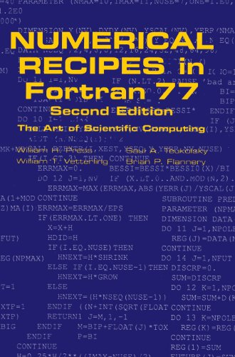 Numerical Recipes in Fortran 77: The Art of Scientific Computing by Cambridge University Press