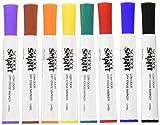 School Smart Dry Erase Marker, Chisel Tip, Assorted Colors, Pack of 8