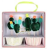 Meri Meri, Cactus, Cupcake Kit - Pack of 24