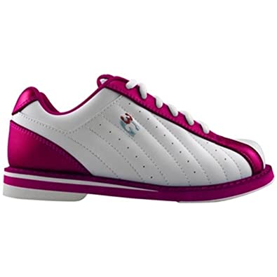 3G Women's Kicks Bowling Shoes (7.5 White/Pink)