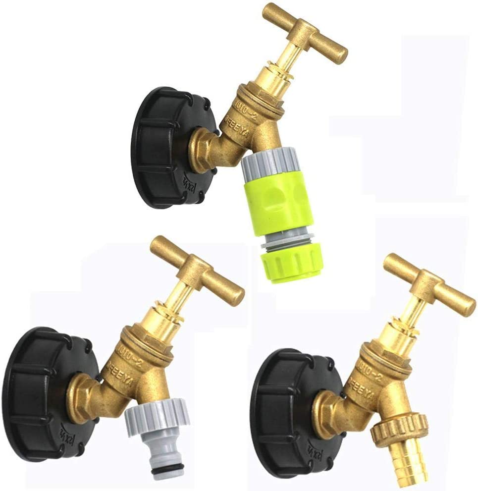1//2 Coarse Thread Connector Replacement Valve Fitting Parts globalqi IBC Tank Tap Adapter 3//4
