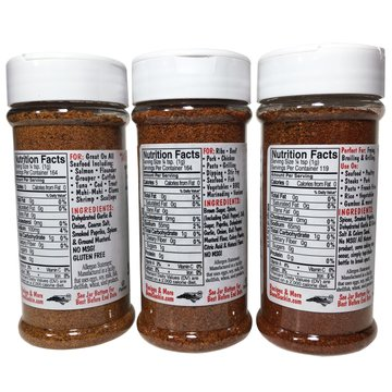 Bone Suckin sauce seasoning and rub- CAJUN, SEAFOOD, and HOT variety 3 pack- Large size 5.8 ounces each. YUM!