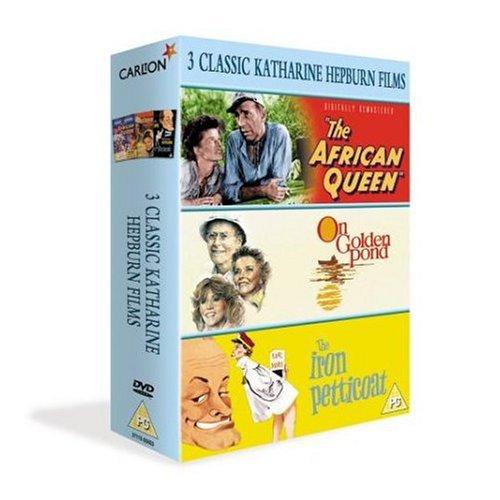 3 Classic Katharine Hepburn Films - The African Queen / On Golden Pond / Iron Petticoat [Region 2]