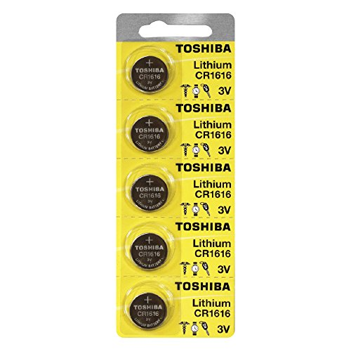Toshiba CR1616 3 Volt Lithium Coin Battery (5 Batteries)