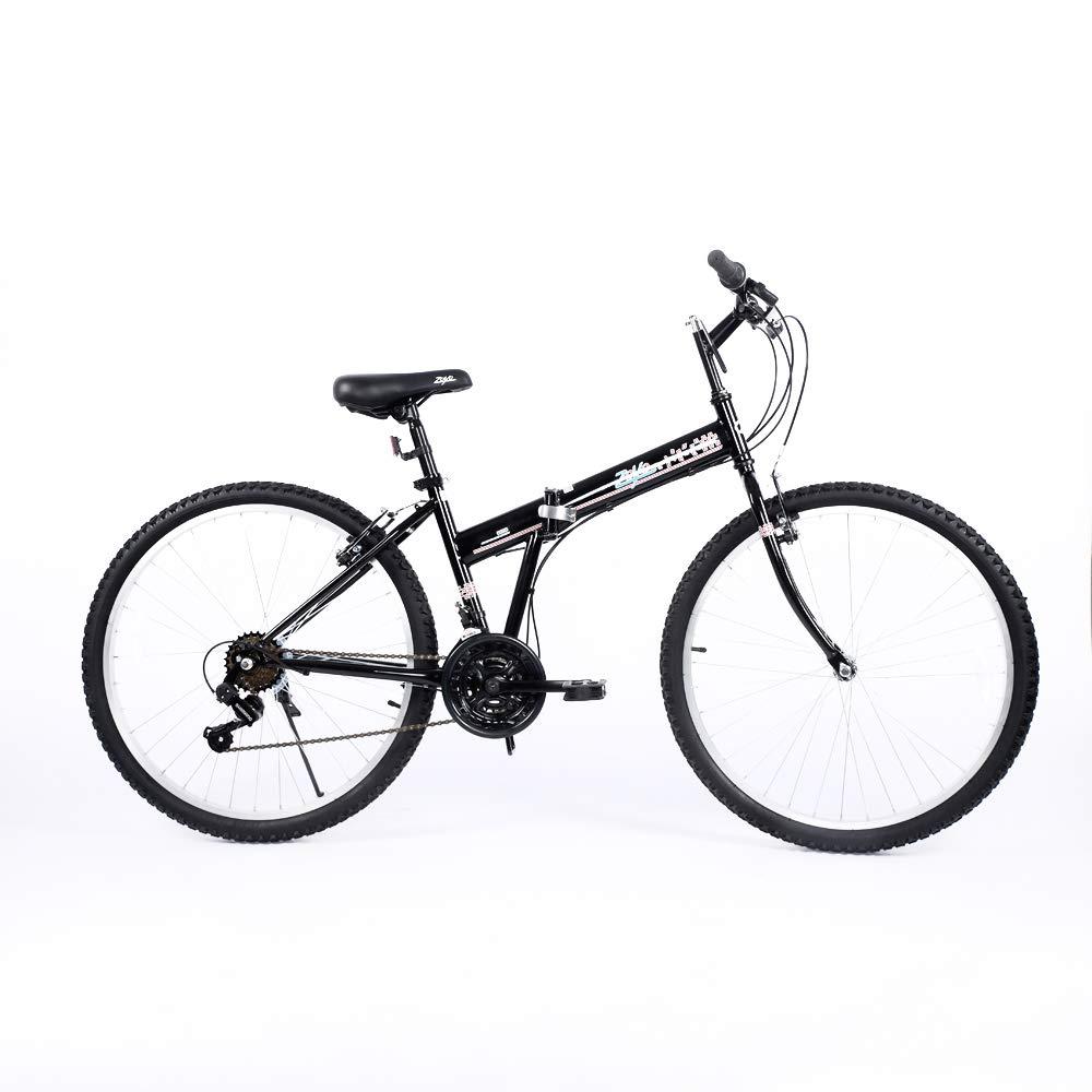 Amazon.com: Bicicleta plegable de Zoyo Negro 21 velocidad V ...