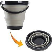 Collapsible Dish Tub Folding Washbasin Portable Lightweight Washing Basin Foldable Plastic Washtub BPA-Free Washbowl for…