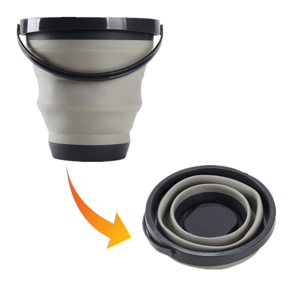 Collapsible Bucket Folding Water Tub Portable Lightweight Keg Foldable Plastic Washtub BPA-Free Pail for Home Camping Outdoor Car Washing Fishing BBQ by Fantasyshop by Gemujiapin