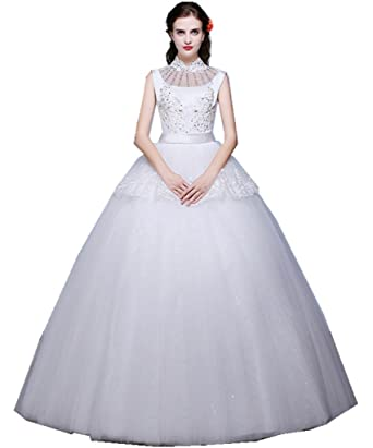 Shanghai Story High Neck Lace Princess Wedding Gown Wedding Dress