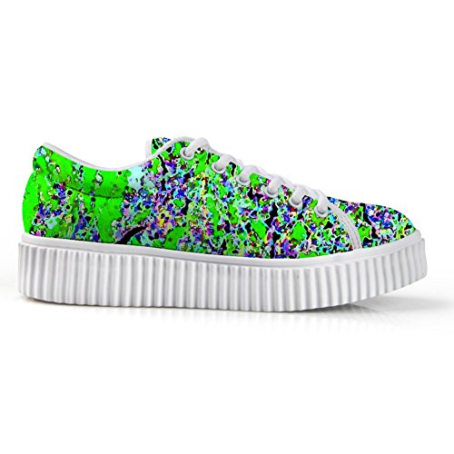 HUGS IDEA Galaxy Womens Fashion Platform Sneakers Lace Up Shoes Colorful 4 zBC6T