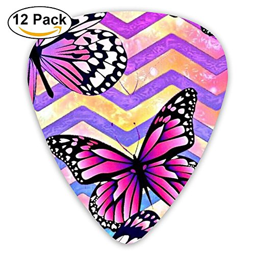 Yenba Butterfly Insects Thin Acoustic Electric Medium Guitar Picks (12-Pack) Girls Personalized 0.46/0.71/0.96 Mm Guitar