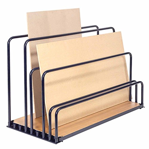 Adjustable Floor Sheet Rack, Steel w/Plywood Deck, 48
