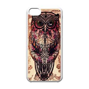 Wlicke Owl Cheap Durable Iphone 5c Case, Customised Protective Cover Case for Iphone 5c with Owl