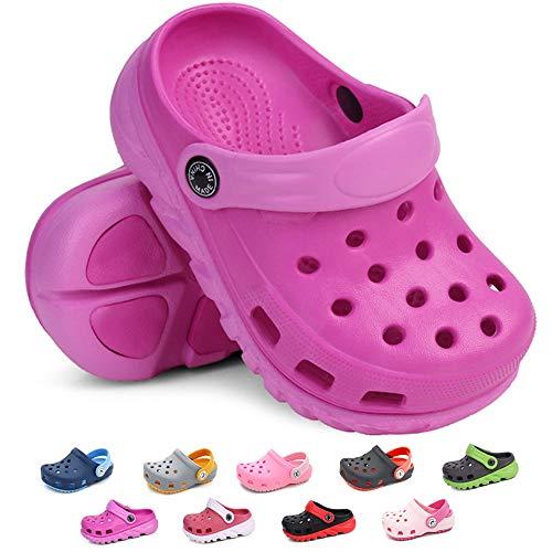 BiBeGoi Toddler Kids Boys Girls Lightweight Garden Clogs Slip On Shoes Beach Slippers Water Sandals Pool Summer Outdoor Shoe (Toddler/Little Kids)