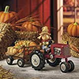 Scarecrow with Hay Trailer - Decorative Accessories