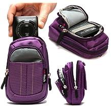 Navitech Purple Digital Camera Case Bag For The Casio Exilim EX-100