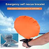 Baifeng Wearable Portable Rescue Device Float Wristband Lightweight Water Buoyancy Aid Device for Adult Kids&New Swimmers Drowning with Inflatable Gasbag Swimming Safety Device