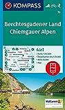 Berchtesgadener Land, Chiemgauer Alpen: 4in1 Wanderkarte 1:50000 mit Aktiv Guide und Detailkarten inklusive Karte zur offline Verwendung in der ... Skitouren. (KOMPASS-Wanderkarten, Band 14)